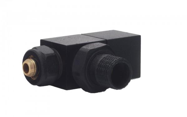 Square Black Angled Radiator Valve 4
