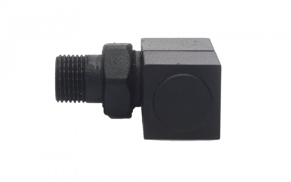 Square Black Angled Radiator Valve 2