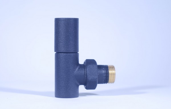 Towel Rail Valve - Matte Black 5