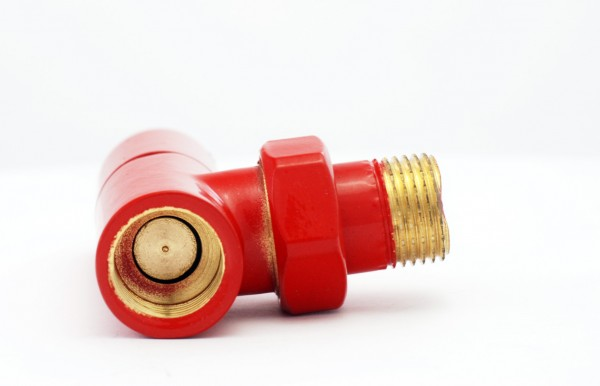 Decorative Radiator Valve Red 3