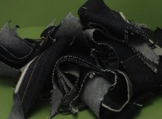 Black Denim Textile Waste