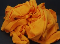 Single Color - Orange- 100% Cotton Waste
